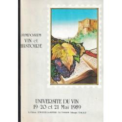Symposium vin et histoire...
