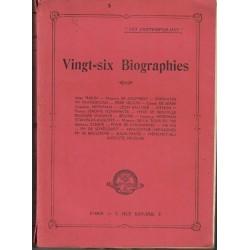Vingt six Biographies - Les...